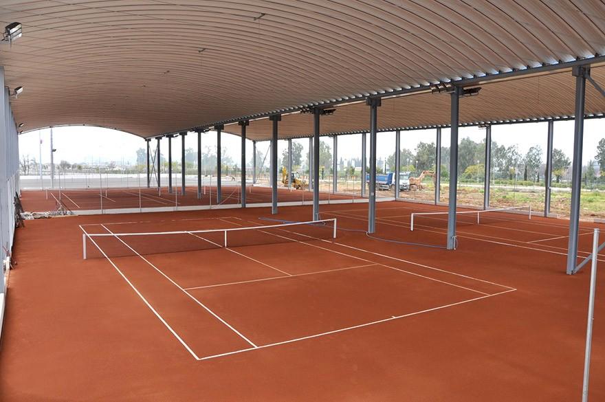 2014 OPEN ARENA Córdoba. Construcción de 7 pistas tenis de tierra batida
