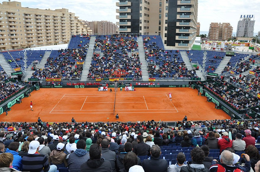 Copa Davis 2012, España – Austria, Estadio Marina d´Or, Oropesa.