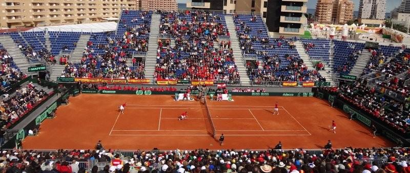 Pista tenis tierra batida Copa Davis Oropesa  Celabasa