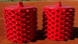 rodillos con púas mantenimiento pistas tierra batida