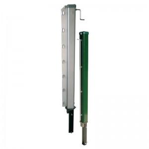postes aluminio cuadrados extraibles