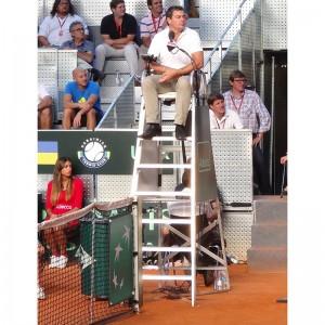silla juez arbitro tenis aluminio