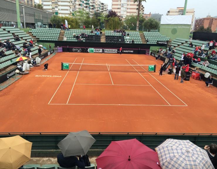 pista tenis tierra batida Celabasa eliminatoria fed cup barcelona