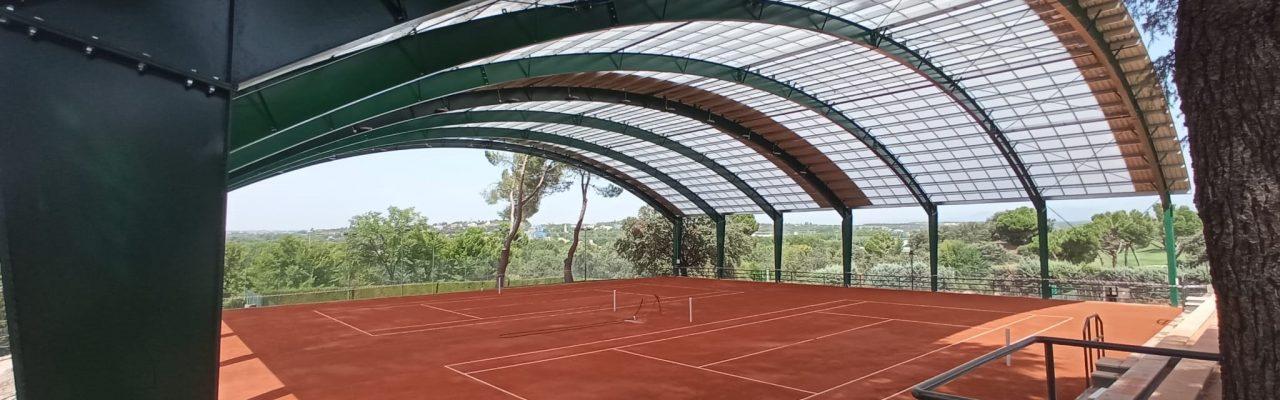 Construcción dos pistas tenis en Real Club de la Puerta de Hierro